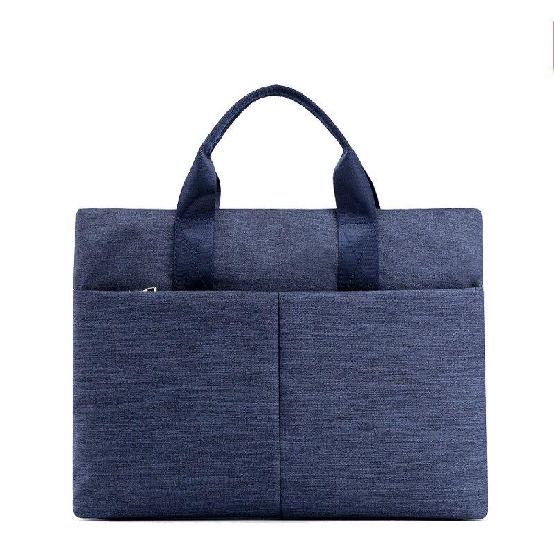 Briefcase File Folder Portable Business Canvas Zipper Document Bag A4 Large Capacity Multi-layer Men Women Handbag Customizable