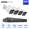 Система видеонаблюдения ANNKE, 8 каналов, 8 Мп, Ultra HD, POE, 4 камеры безопасности