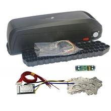 E バイク 48V 電池ボックス + ニッケルシーツ + 保護 PCB 収納ボックスリチウムダウンチューブ電動自転車バッテリーケースと 18650 ホルダー