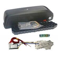 E bike 48V batterie box + Nickel blätter + schützen PCB Lagerung box lithium Unten rohr Elektrische fahrrad batterie fall Mit 18650 halter