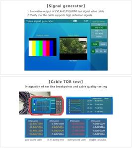 "Image 2 - 7"" H.265 4K IP HD CCTV Tester Monitor AHD CVI TVI Camera Tester 8MP WIFI POE 12V Video Cable Testing HDMI Camera Tester"