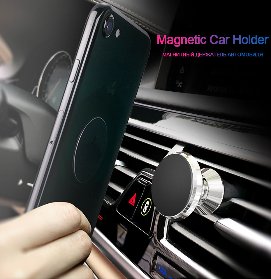 Car Holder Bracket Magnetic Tablet Car Holder Phone Magnet Grip Stand Air Vent Grip Mount Cell Phone GPS Holder For IPhone 8 7