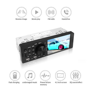 Image 2 - Bluetooth 4.0 Multimedia Autoradio FM Aux For Car Radio Rear Camera MP5 Stereo Audio 4.1 Inch HD Touch Screen MP3 Music Player