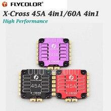 وحدة تحكم سرعة إلكترونية أصلية من Flycolor طراز X Cross 45A 4in 1/60A 4in1 ESC BLheli_32 3 6S لسباقات RC الطائرة بدون طيار FPV