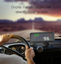Car P9 HUD Head Up Display OBD Smart Digital Meter 2 Display Way Over Speed Warning Alarm Water Temperature Voltage Compatible w 2018 new p9 head up display car styling hud car obd smart digital meter auto two display on the windshield digital speedometer