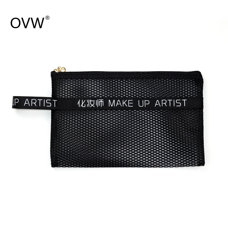 OVW Portable Makeup Brush Bag Holder For Cosmetic Tools Make Up Collector Nylon With Zip