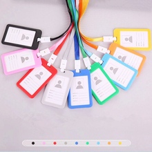 Employee-Badge-Holder Student Business-Work-Card ID Colorful