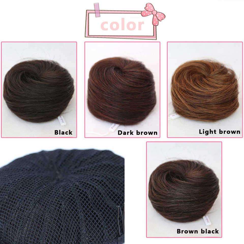 Allaosify10 цветов в наличии пучок волос шиньон синтетический пончик ролик шиньон Высокая температура волокна волос пучок покрытие для женщин