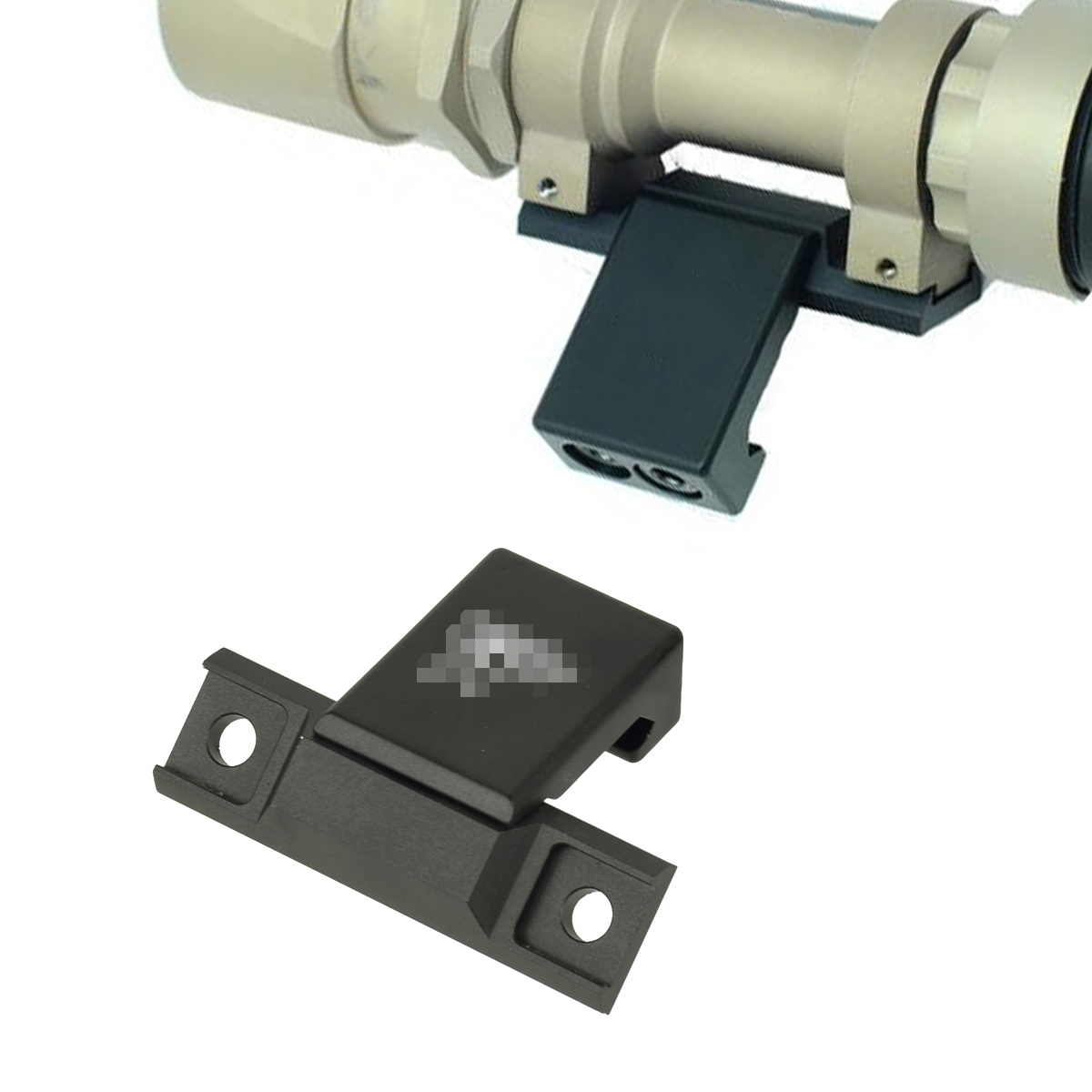 Weapon Light Offset Mount for Surefir M951 M620V Series Mounted on Picatinny Weaver Rail