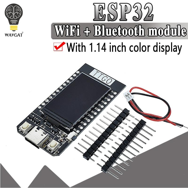 TTGO T-pantalla ESP32 WiFi E módulo Bluetooth Placa de desarrollo Para Ar duino 1,14 Polegada LCD