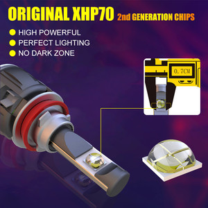 Image 3 - INLONG XHP70.2 H7 Led Lampada Canbus H4 lampadine per fari a LED per Auto H1 H8 H11 Lampada a Led 9005 HB3 9006 HB4 faro fendinebbia automatico 12V