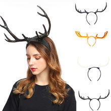 คริสต์มาส Elk Antler Headband Light-Up Horns หู Dalmatian Bull Horns (China)