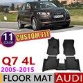 Изготовленный На Заказ Кожаный Автомобильный Брелок коврики для Audi Q7 4L 2005 ~ 2015 5 мест для ног коврик ковер автомобильные аксессуары 2006 2007 2010 ...