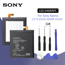 SONY Original LIS1546ERPC Phone Battery 2500mAh For Sony Xperia C3 T3 D2533 M50W D5103 S55T S55U D2502 Replacement Batteria