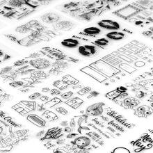 Paper-Card Stamp Scrapbooking Silicone-Seal Transparent Diary-Tools Album Diy-Craft Creative
