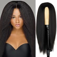 Синтетические парики Yaki, прямые волосы, парик для женщин Yaki, прямые 30 дюймов, Длинные афро волосы, парик из термостойкого волокна, африкански...