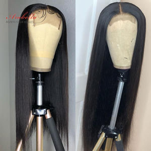 Arabella Closure Wig Remy-Hair Lace 100%Human-Hair-Wigs Straight Preplucked Natural 210%Density