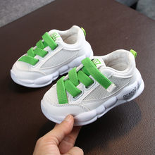 Toddler Infant Kids Shoes Sneakers Baby Girls Boys Soft Sole Mesh Running Sportsapato infantil led basket enfant garcon new(China)