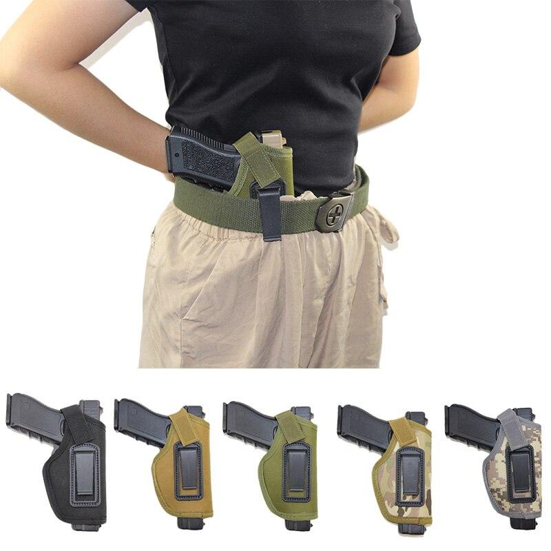IWB Arma Oculta funda para Golck 17 18 19 22 26 Colt 1911 M92f Sig Sauer p226 Cz75 funda bolsa Universal cartuchera de mano derecha