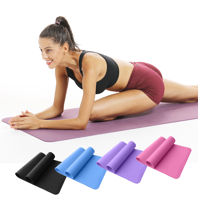 1830*610*10mm NBR Yoga Mat Thickened Non-slip Exercise Pilates Pad Workout Sport Gymnastics Mat Indoor Training Fitness Carpet