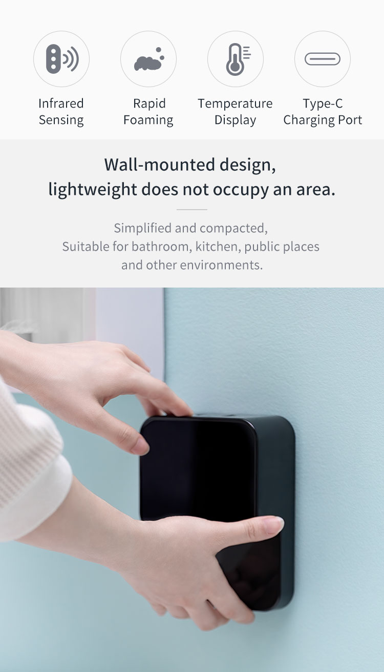 Original Youpin LED Display Automatic Induction Foaming Hand Washer Sensor Foam Household Infrared Sensor For Homes Mall WC