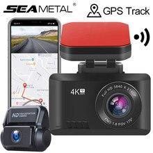 2.45 Cal Mini wideorejestrator 4K WIFI DVR GPS Trace Dash Cam noktowizor kamera samochodowa kontrola aplikacji Sony IMX335 czujnik Dashcam