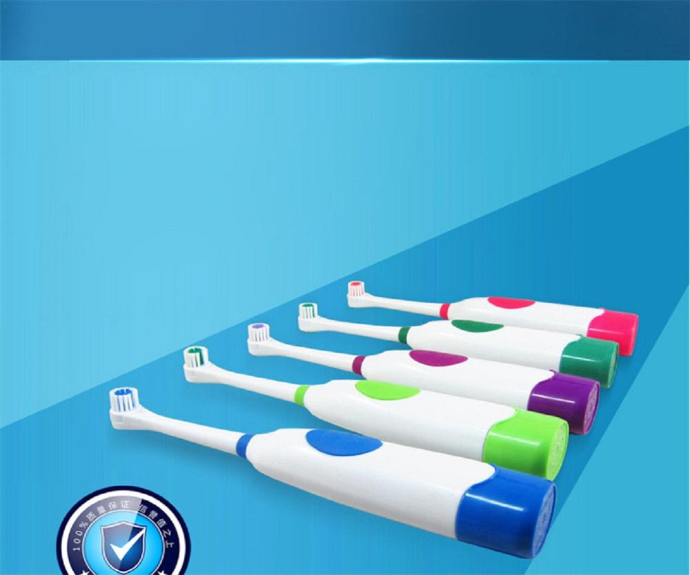 Tooth whitening 1 Set Electric Toothbrush With 2 Brush Heads Battery Operated Oral Hygiene No Rechargeable Teeth Brush
