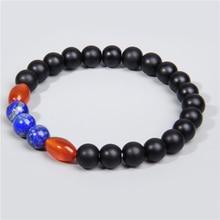 Boho Fashion Beaded Bracelet Men Women Natural Stone Wood Red Agates Turquoises Beads Sets Jewelry Bracelets & Bangles