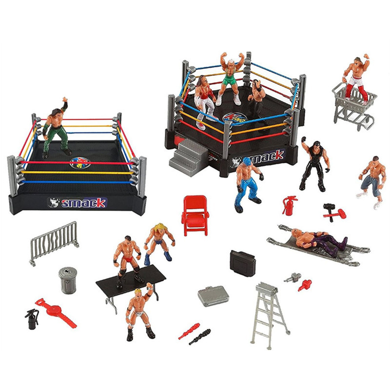 Cross Border WWE Wrestler Ring Scene Figure Model Set Children'S Educational Assembled Toys Amazon Hot Selling