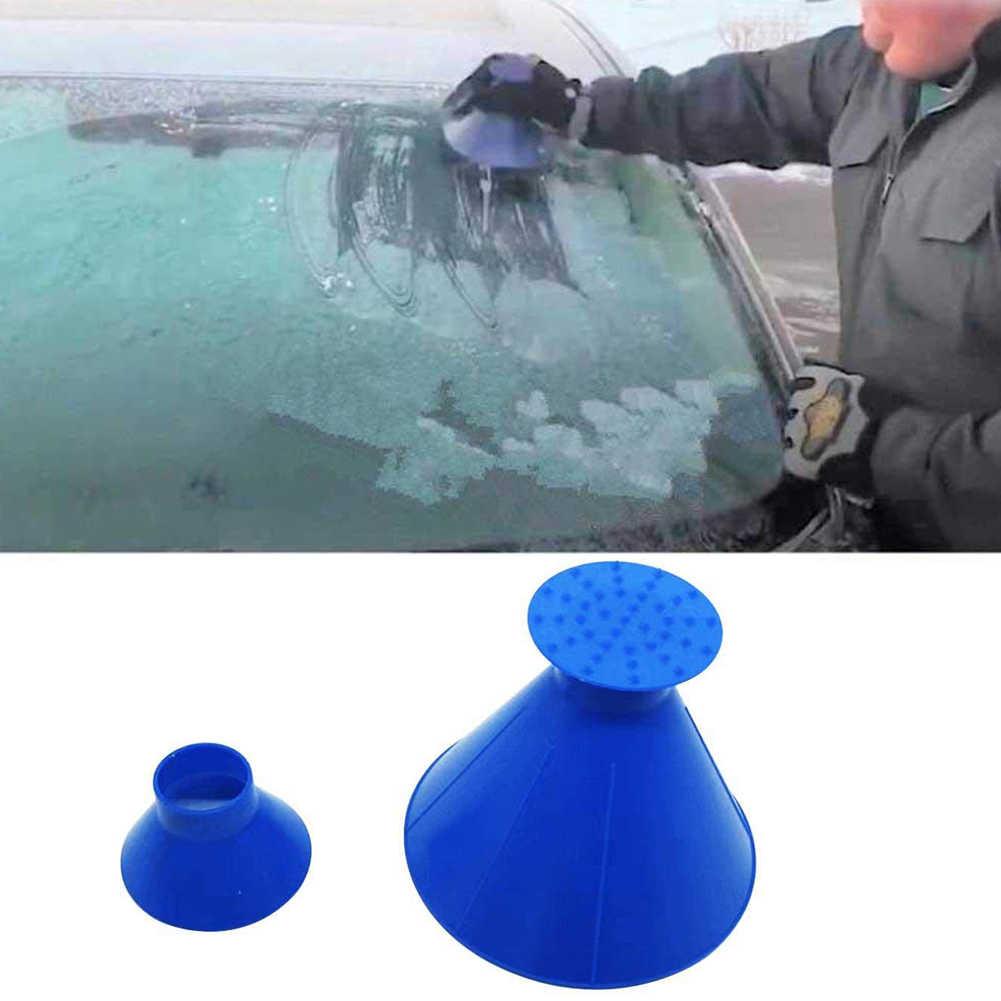 שמשה קדמית 2 ב 1 לגרד מגרד נקי שלג Remover כלי נייד קונוס בצורת משפך עבור רכב NJ88