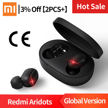 Instock Original Xiaomi Redmi Airdots Headphones Wireless Earphones Voice Control Bluetooth 5.0 Noise Reduction Tap Control IPX4
