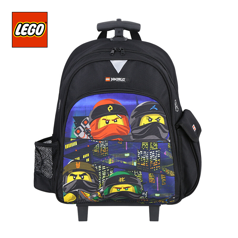 Lego LEGO 2019 New Style Trolley Bag School Bag Students Children Pulley Shoulder Phantom Ninja Men And Women 10045