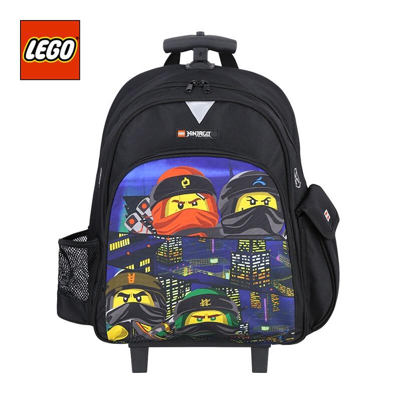 Lego LEGO 2019 New Style Trolley Bag School Bag Students Children Pulley Shoulder Phantom Ninja Men And Women 10045