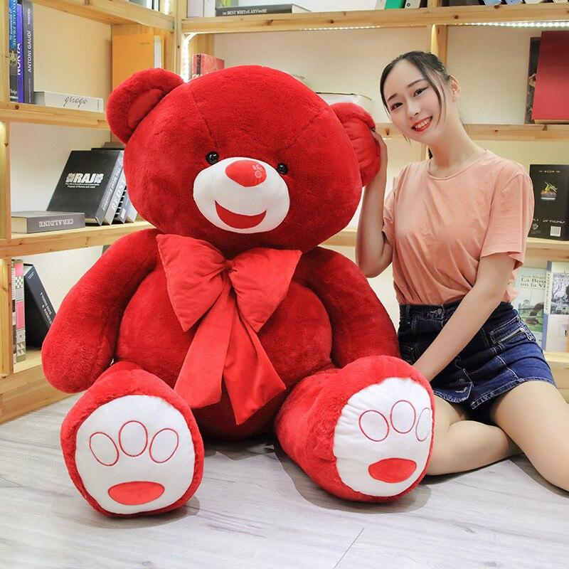 60 große Größe Fett Teddybär Plüsch Spielzeug Rot Farbe Teddybär Plüsch Puppe Große Geschenk Für Liebhaber Hohe qualität Big Bear Geschenk - 3