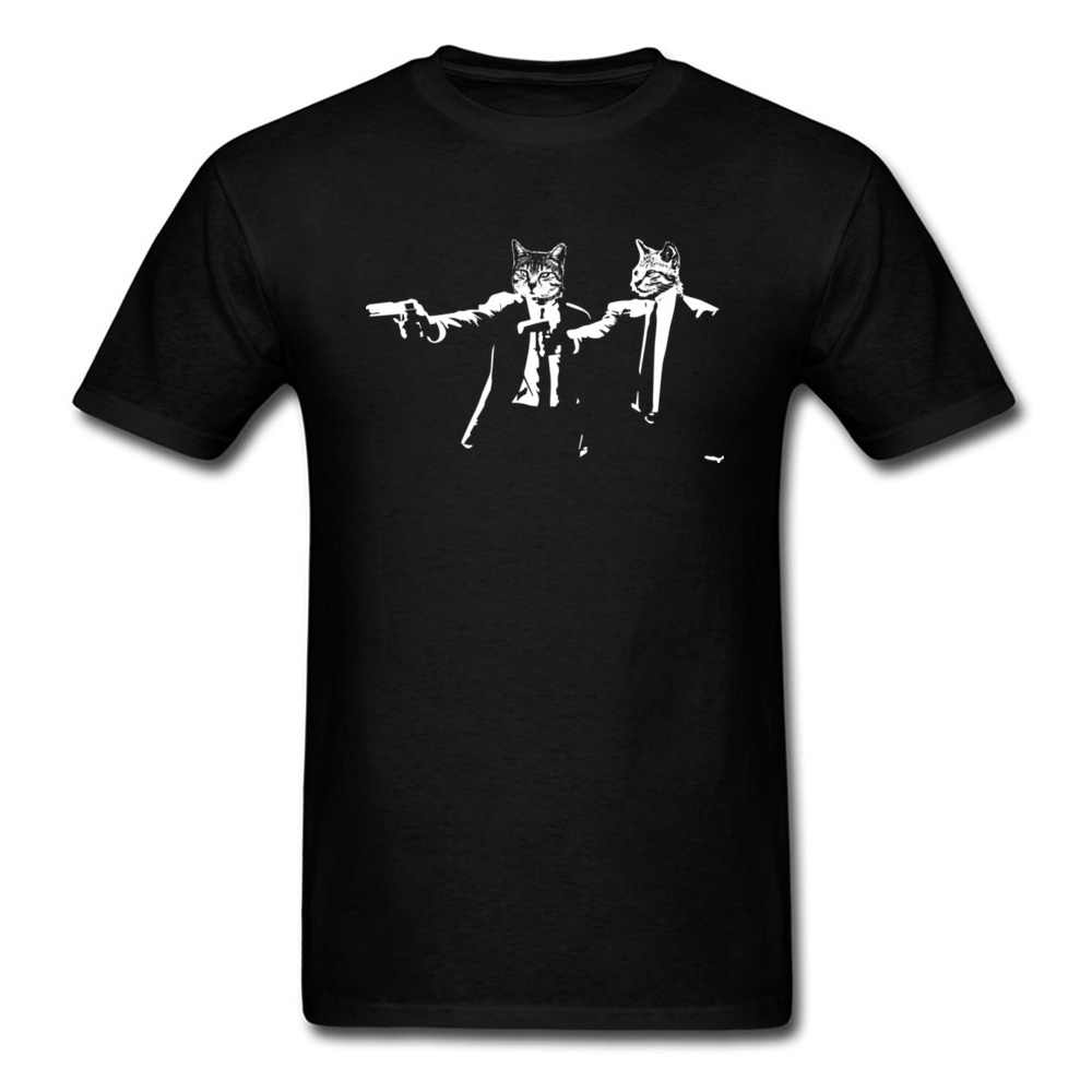 おかしいメンズ Tシャツ猫 Plup フィクション黒人気の古典的なメンズ Tシャツトップス 2020 新到着ファッショントレーナー高品質