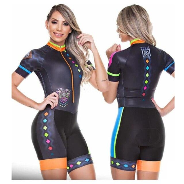 Profissional das mulheres triathlon manga curta camisa de ciclismo define skinsuit maillot ropa ciclismo roupas femininas jumpsuit2020 Maillot de ciclismo de triatlón para mujer Trajes de ciclismo para mujer Monos de 3