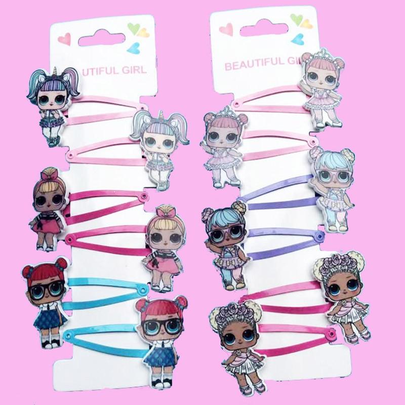 Lol Original Surprise Doll Toys Hairpin Rubber Band Hair Accessories Figure Lol Doll 6pcs Set Girl Headdress Kid Gift