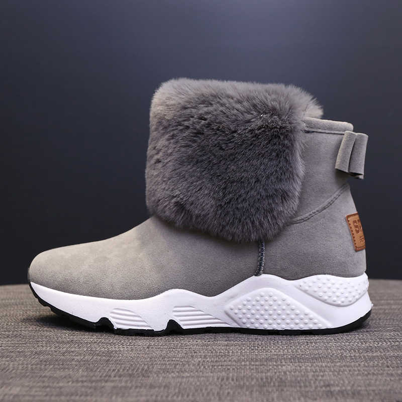 2019 yeni kadın botlar artan kış ayakkabı sıcak ayakkabı rahat pamuklu ayakkabılar
