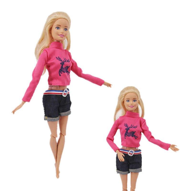 人形 15 スタイルバービーキリン衣装ショートドレスデニムグリッドスカートベストパンツ毎日カジュアル県アクセサリー女の子のおもちゃdiy