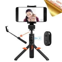 Bluetooth Original de bâton de Selfie de monopode de trépied pliable de Xiaomi avec lobturateur de bouton sans fil pour le bâton de Selfie dandroid de Xiaomi iOS