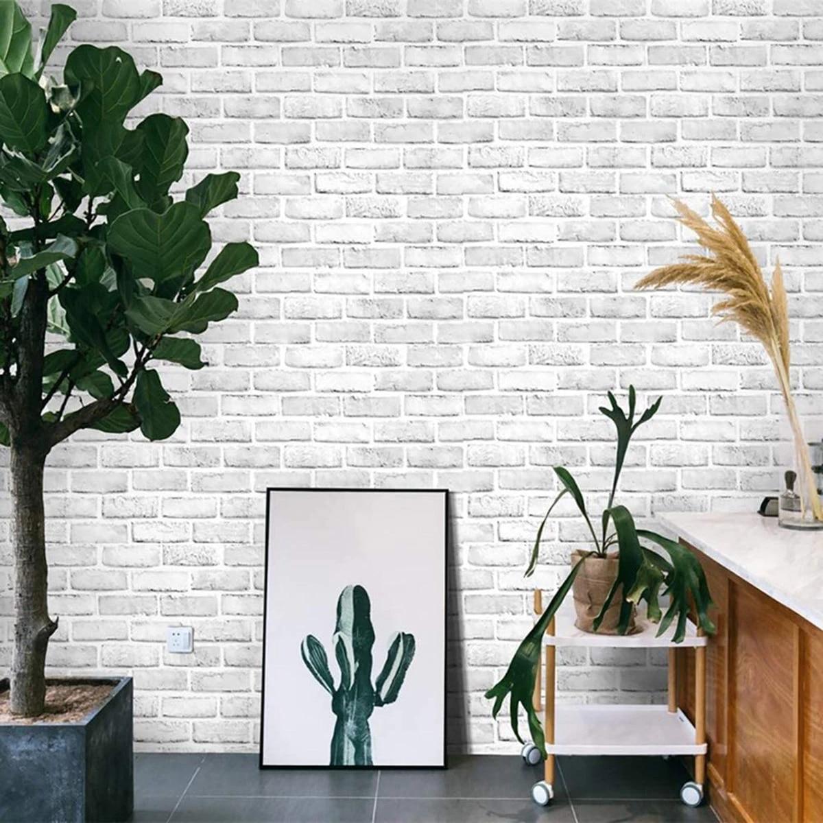 3D Brick Wallpaper Creative Textured ...