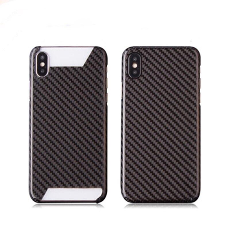 Жесткий Ультра тонкий модный Чехол для мобильного телефона из настоящего углеродного волокна для Iphone 7 8 plus X S R MAX