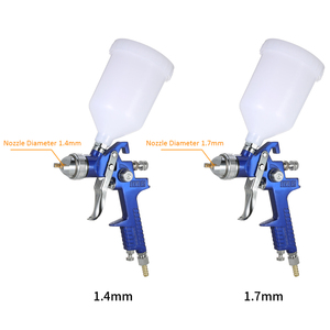 Image 2 - Nasedal HVLP Air Spray Gun Paint Sprayer 1.4mm/1.7mm  600ml Gravity Feed Airbrush Kit Car Furniture Painting Spraying Tool
