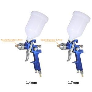 Image 2 - Nasedal Hvlp Luchtspuitpistool Paint Spuit 1.4Mm/1.7Mm 600Ml Gravity Feed Airbrush Kit Auto Meubels schilderen Spuiten Tool