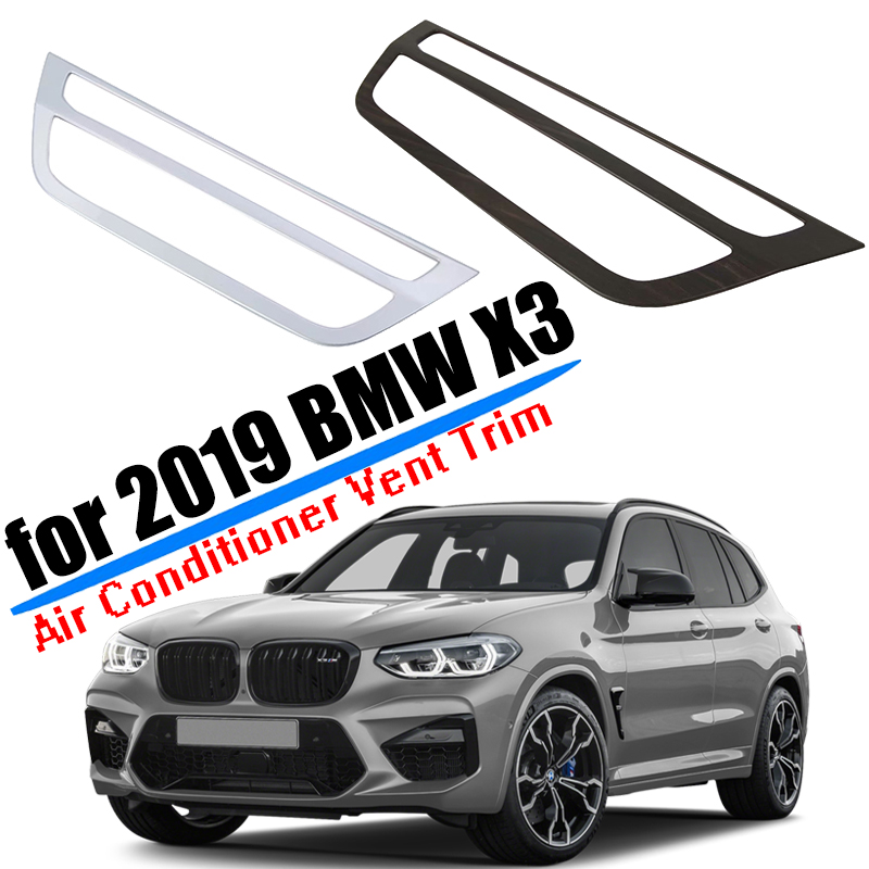 Auto Accessories Fit for 2018 2019 2020 <font><b>BMW</b></font> <font><b>X3</b></font> <font><b>G01</b></font> Center Air Conditioner Switch Board Cover <font><b>Trim</b></font> ABS <font><b>Carbon</b></font> Fiber Car Styling image
