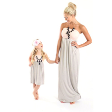 Mom Daughter Dress Pink Patchwork Dress Mother and Daughter Clothes Family Look Mother Daughter Dresses Matching Family Outfits 2018 summer maxi dress bohemian mother daughter dresses matching mother and daughter clothes family look girl and mother dress