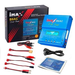 Image 3 - HTRC iMAX B6 AC RC מטען 80W B6AC 6A כפולה ערוץ איזון מטען דיגיטלי LCD מסך ליתיום Nimh Nicd lipo סוללה פורק