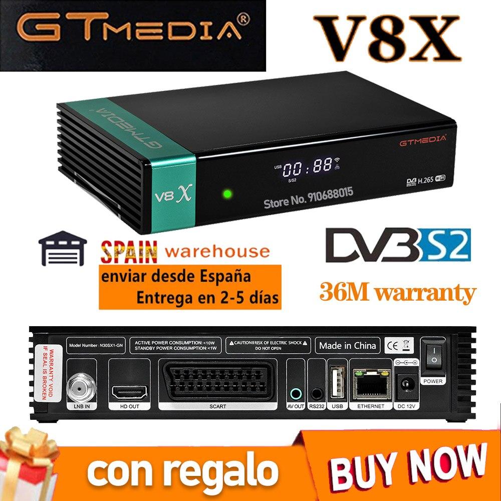 Приемник gtmedia V8X FTA спутниковый ресивер DVB-s2/S2X full hd h.265 аналогичный gtmedia V7 s2x с USB wifi бесплатное обновление V8 nova V7s