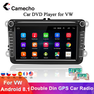 Camecho 2din Car Radio GPS Android 8.1 For VW/Volkswagen/Golf 4 5/Polo/Tiguan/Passat/b7/b6/leon/Skoda/Seat/Octavia Autoradio(China)