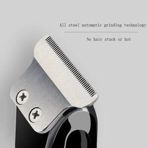 Image 3 - 제로 오버랩 전문 헤어 트리머 남성용 수염 트리머 자동차 USB 전기 수염 커터 헤어 커팅 머신 헤어 컷